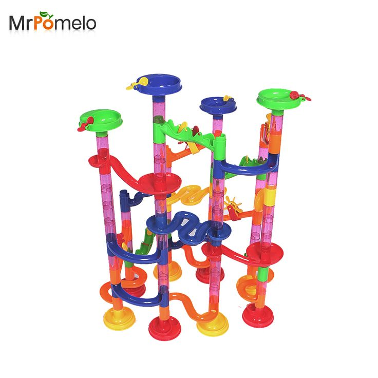 105PCS/Set Colorful Pipeline Type Puzzles Maze Learning Educational Toys Kids IQ Trainer Game Marble Race Run Maze Ball Children