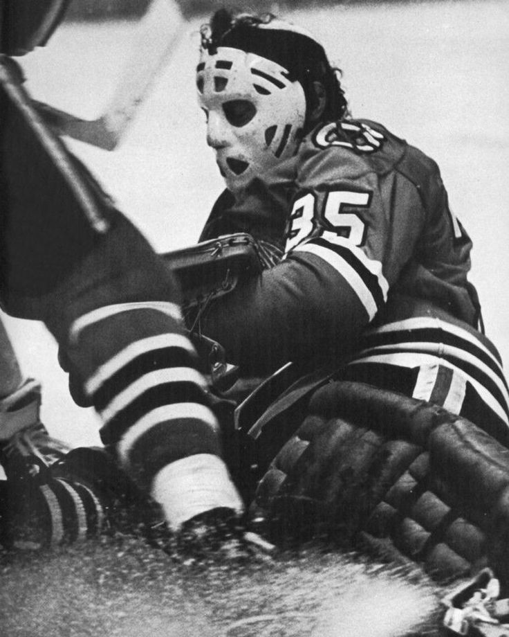 TONY ESPOSITO CHICAGO BLACKHAWKS VINTAGE GOALIE MASK NHL HOCKEY 8X10 PHOTO
