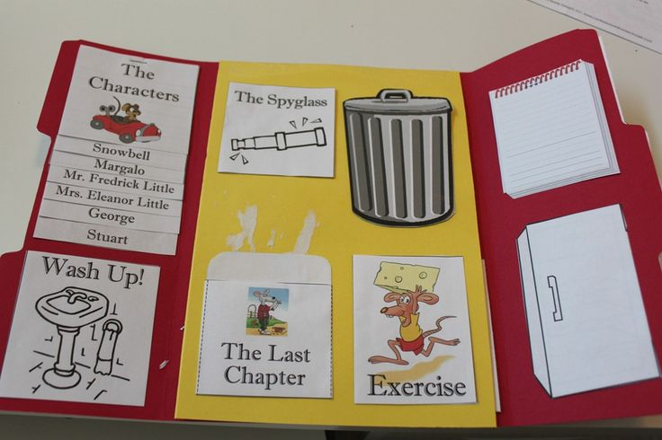 Stuart Little lapbook: write a letter, vocabulary, helpfulness, characters, mice, recycling, prediction of the end, protagonist, antagonist, story line etc...