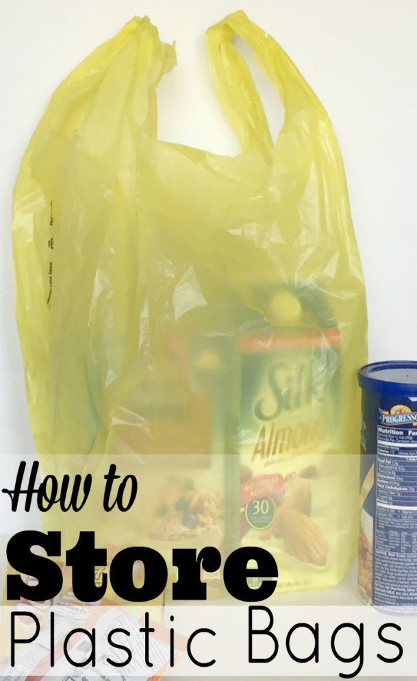 Simple and organized way of storing all of those plastic grocery store bags.