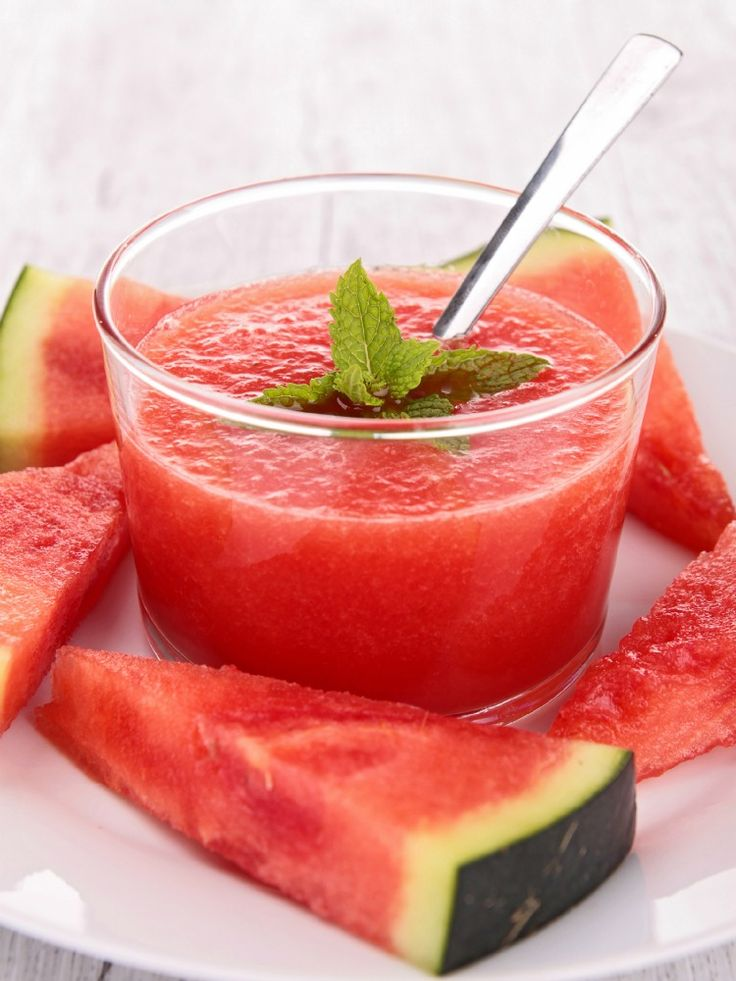 Watermelon Soup  A healthy and refreshing recipe.