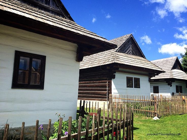 Historical white houses in an open air museum in Pribylina Liptov #Slovakia #travel  http://ift.tt/2u7n3jK