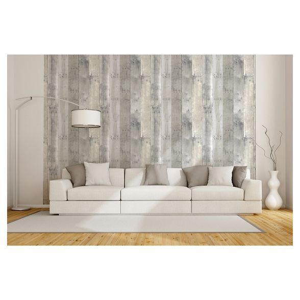 Reclaimed Wood Peel Stick Wallpaper Gray Threshold Peel And Stick Wallpaper Living Space Decor Reclaimed Wood