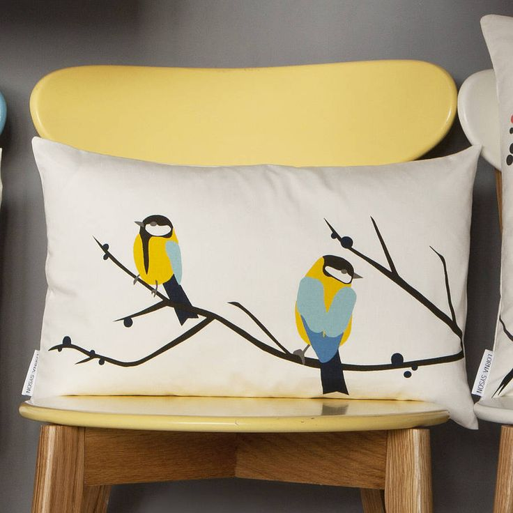 juneberry and bird cushion by lorna syson | notonthehighstreet.com
