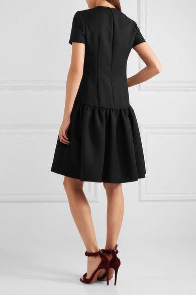 Alexander McQueen - Drop-waist Wool-blend Scuba Dress - Black - IT