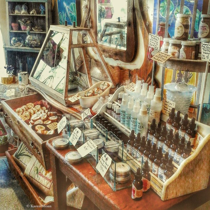 https://flic.kr/p/veSRTa | Wall Flower Studio - handcrafted #apothecary product #display in the shop | wallflowerstudioseeds.blogspot.com