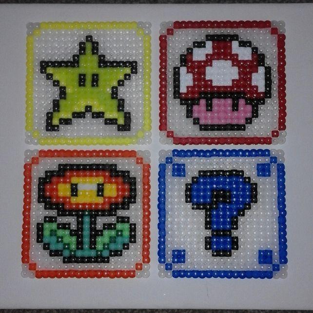 Super Mario Bros Hama Coaster Drinks Set £10.00