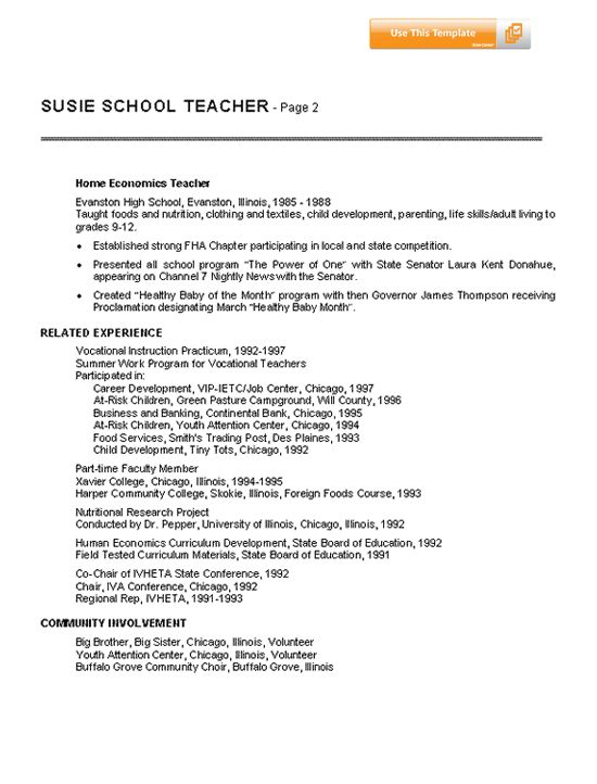 resume for teachers Whether you are requisitioning an advancements position or a classroom showing position, Teachers' Professional Résumés can give the exhortation and bolster you require.