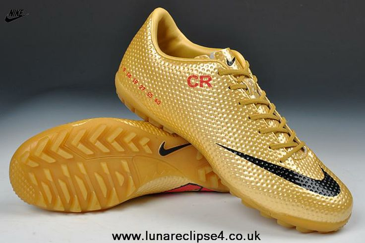 Nike Mercurial Vapor IX CR7 (Gold/Red/Black) TF Limited Edition 2014 Soccer Cleats