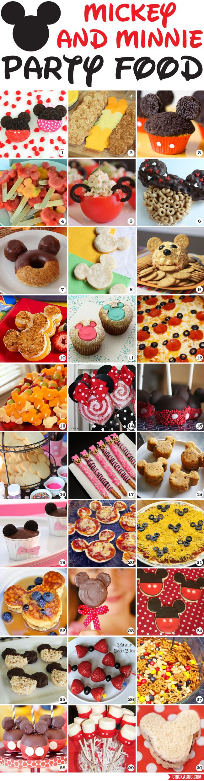 Mickey  Minnie Party food ideas