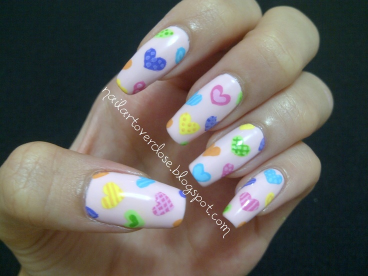 288 best valentine nails tutorials images on nail art overdose valentine nail art challenge day 2 hearts http prinsesfo Gallery