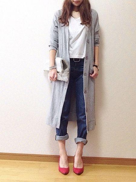 羽織るだけでおしゃれさん…!流行の ロングカーディガン の上手な着こなし方|MERY [メリー]