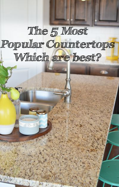 Various Kitchen Countertop Options Are Available In The