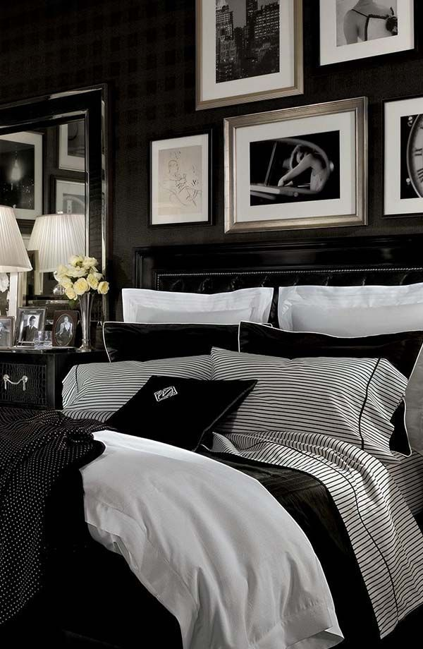 33 Stylish and classy bedrooms wearing black and white. >> Take a look at even more by checking out the image link