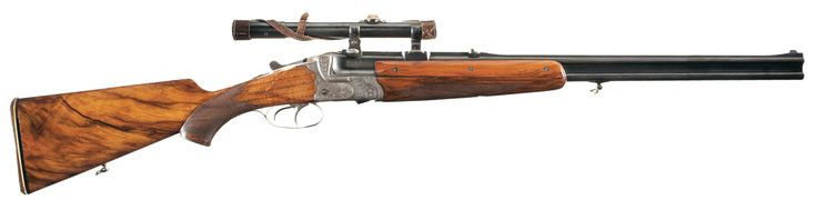Historic Inscribed Pre-World War II 1937 Dated Fritz Sauckel Nazi Presentation BSW Over/Under Super Posed Double Rifle (Bock/Doppelbuhse) with Zeiss Scope