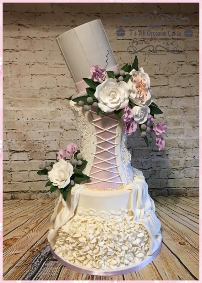 Wedding dress inspired wedding cake by Teraza @ T's all occasion cakes
