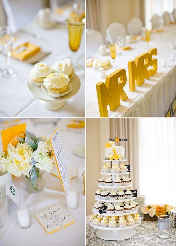 DIY wedding - yellow and gray - colorado - on COUTUREcolorado