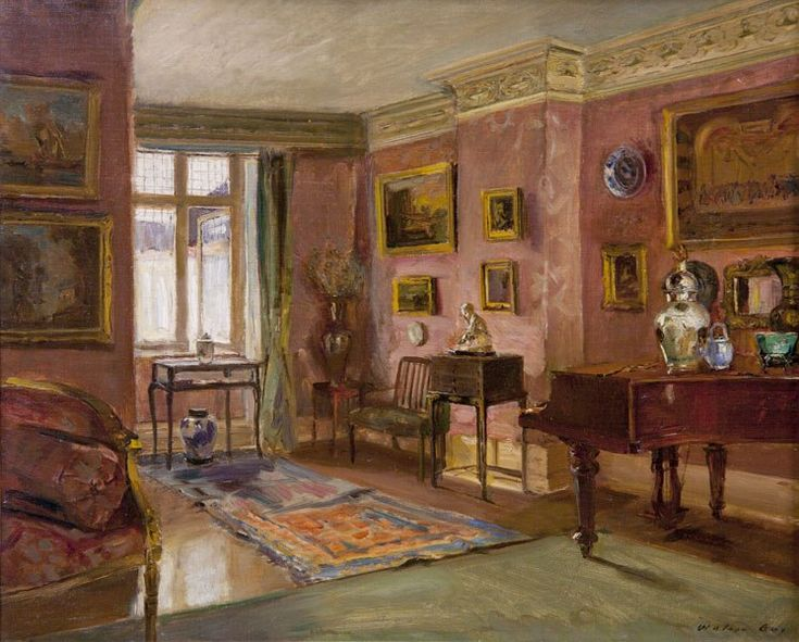 Charming Paintings Of Interiors By Walter Gay And Isabelle Rey