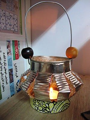 Tin can lantern ~ tutorial ~ another fun lantern we could make with tin cans!