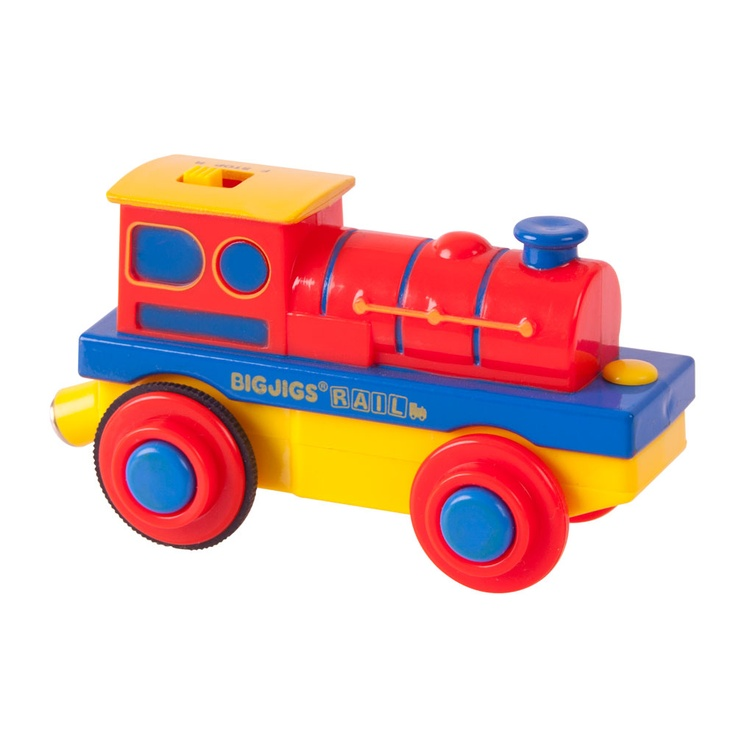 With battery power to advance forwards and backwards, this easy to battery operated train engine can also pull carriages from across the bigjigs range with its magnetic coupling. Uses AAA batteries and is compatible with other wooden railway systems. Made from high quality, responsibly sourced materials. Ages 3 and up.  http://www.shop.bigjigstoys.us/p/battery-steam-engine