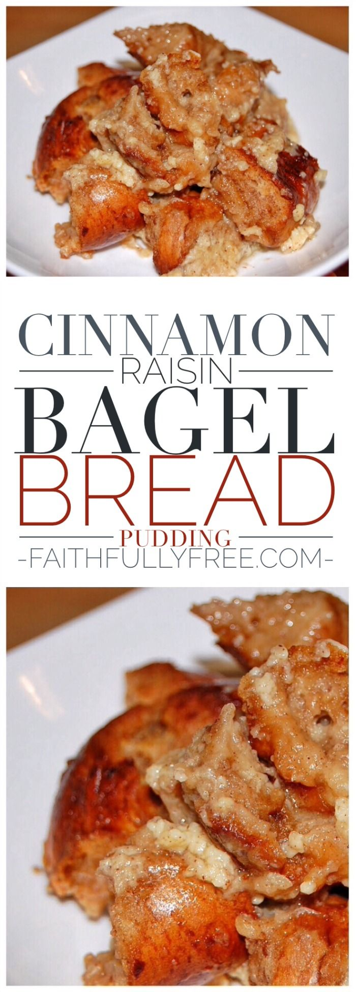 Cinnamon Raisin Bagel Bread Pudding is so yummy! The last time I bought Lender's Bagels B1G1 one whole bag sat in my refrigerator until they were too old