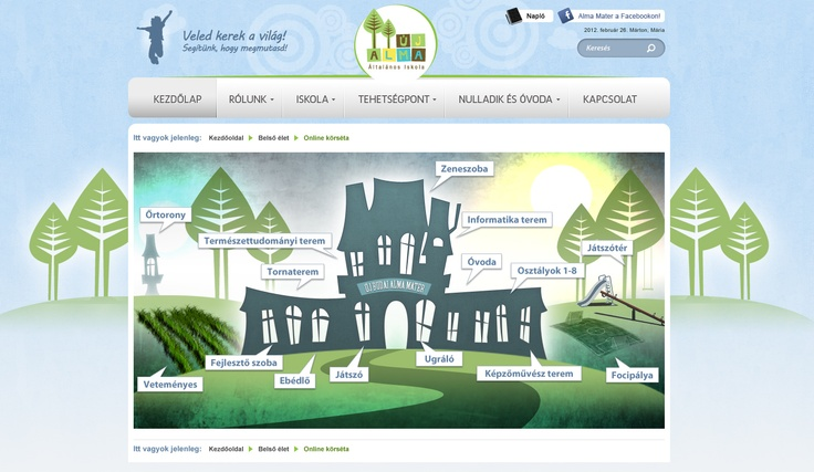 Alma Mater school website design