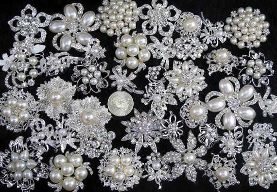 Bulk Brooches, Etsy listing at https://www.etsy.com/listing/187890188/lot-40pcs-crystal-rhinestone-brooch-pins