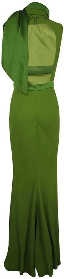 Alexander McQueen Scarf Drape Long Dress