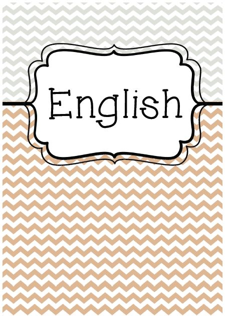 Coloring Page Binder Cover Printable Binder, School And Craft5 - english binder cover