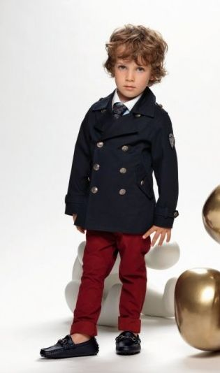 peacoat. OH. MY. GOD. Except when my kids wear this, they won't look so pompous and snobby. They'll look supa fly