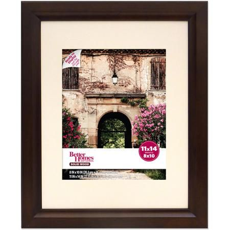 Better Homes and Gardens Studio Wide 11x14 Wood Picture Frame, Mahogany