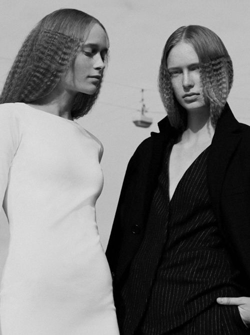 Anne Mette Ryom and Sofie Broe by Anne Hoejlund Nicolajsen for Bast Magazine Issue 9