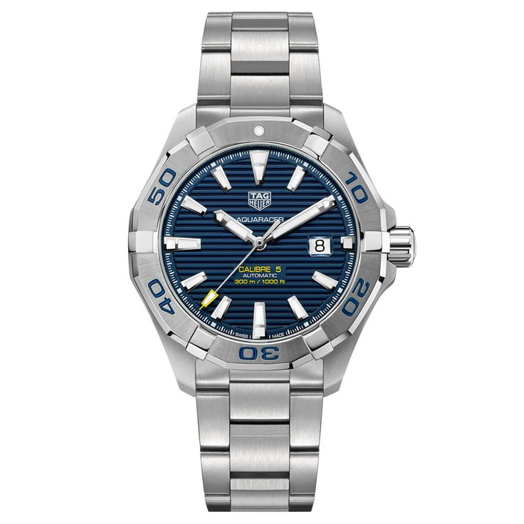 Tag Heuer Men's Aquaracer Automatic Movement Navy Dial Watch