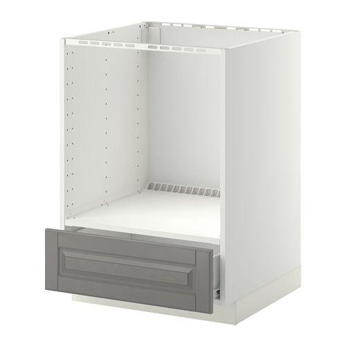 METOD / FÖRVARA Corp bază cuptor+sertar - alb, Bodbyn g - IKEA