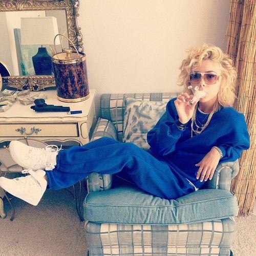 Honey cocaine blue sweats