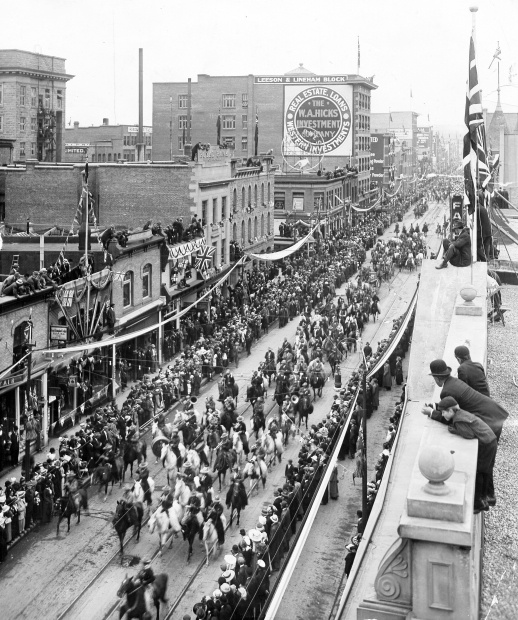 September 2, 1912: First Calgary Stampede parade.