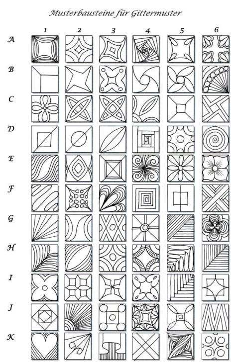 Love the quick reference for grid tangles. What are your favorites? Have you created your own quick reference?