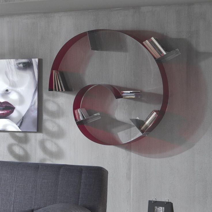 Mensola+libreria+Adam+da+parete+flessibile+e+componibile+in+plexiglass