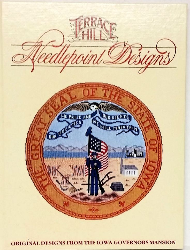 Terrace Hill Needlepoint Designs From Iowa's First Lady HC Book #TerraceHill