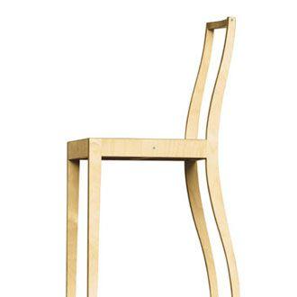 jasper morrison, bare minimum plywood chair