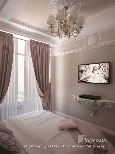 Спальня в стиле барокко, Дизайн-студия Елены Пономаренко Vitta-Group, Спальня, Дизайн интерьеров Formo.ua