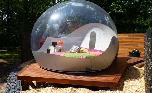 Close your eyes and enjoy a night in a semi-transparent ball in the middle of #nature, #Belgium