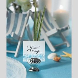 items similar to silver sea shell place card holders 8 pieces on etsy