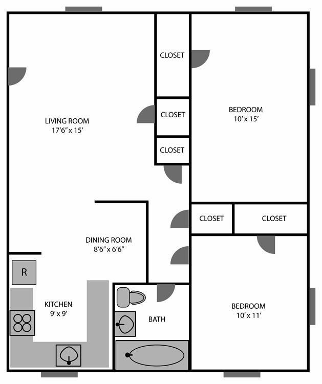 10 Best 750 Sq Ft - Two Bedroom Images On Pinterest