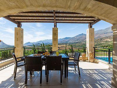 Rethymno villa rental - Great veranda equipped with patio furniture!