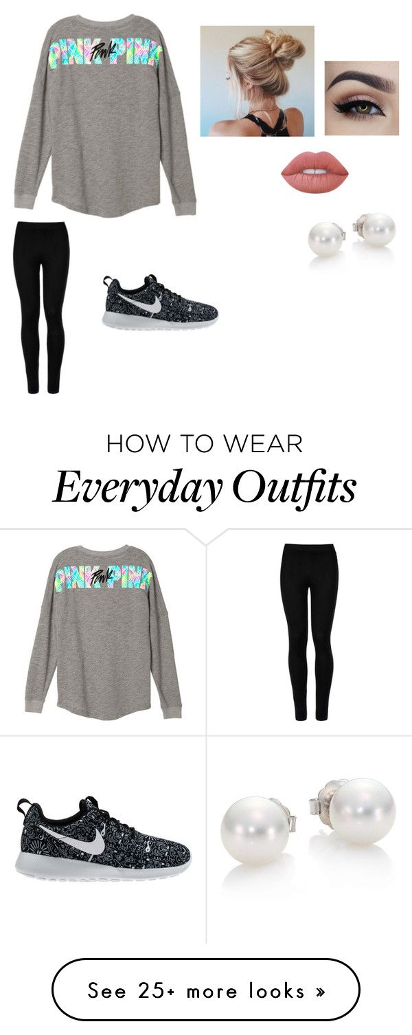 """""""Everyday outfits"""" by http-tayrae on Polyvore featuring Wolford, NIKE, Lime Crime and Mikimoto"""