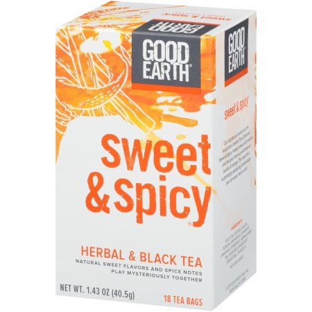 Good Earth Herbal & Black Tea, Sweet & Spicy, Tea Bags, 18 Ct Image 2 of 7