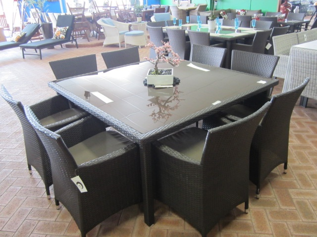Maple 9 Piece Square Table with Tub Chairs