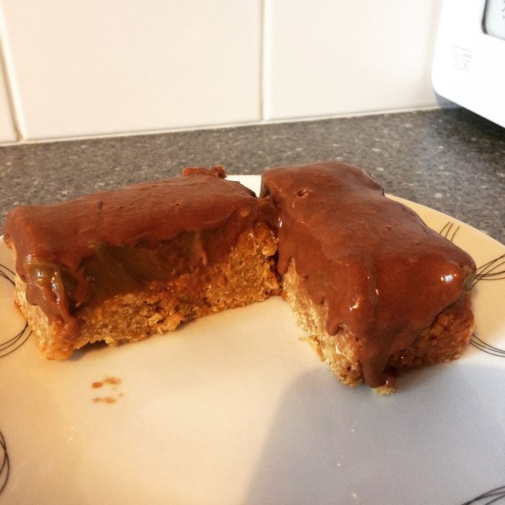Billionaire flapjack with fudge icing
