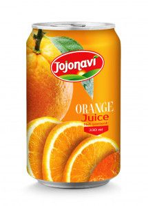 330ml Natural Orange Juice Aluminum can Supplier